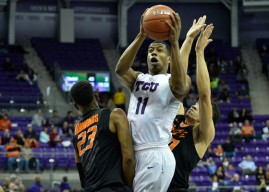 Frogs use hot shooting in second half to down Cowboys