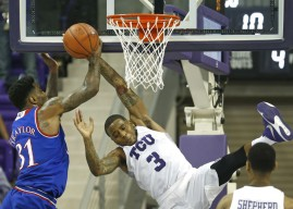 TCU sputters early, fall to Kansas