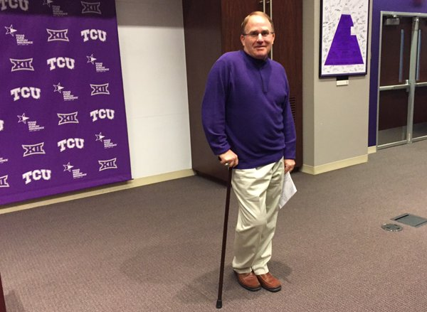 Gary Patterson greets the media during National Signing Day. Photo Courtesy/Star Telegram