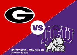 Gameday, Liberty Bowl: TCU 23 – Georgia 31 (FINAL)